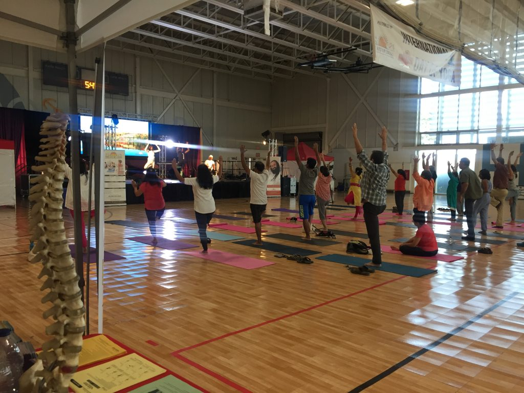 yoga event with chiropractor